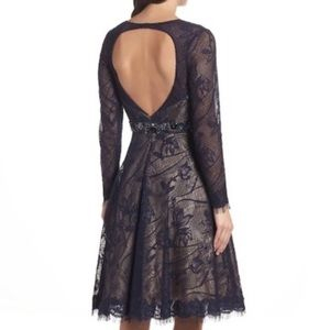 Mac Duggal Open Back Lace Fit and Flare (2)